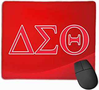 Delta Sigma Theta Mouse Pad with Designs, Anti Slip Mouse Mat for Desktops, Computer