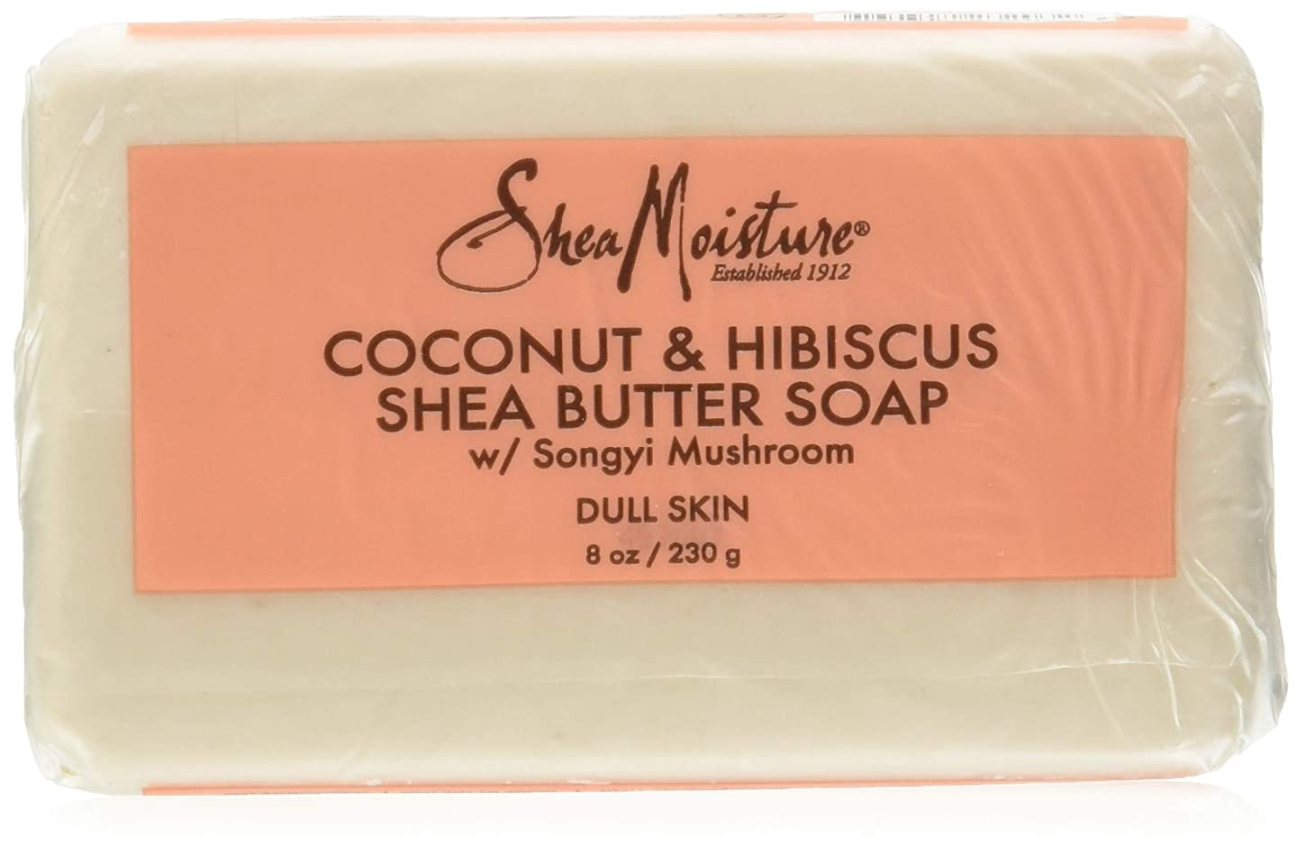 戦う解釈する顔料Shea Moisture Coconut Hibiscus Bar Soap- 235 ml by Shea Moisture