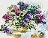 LLYMGX Diamond Vollbedeckung mit Painting Set Bild Diamant Malerei Stickerei Handarbeit Basteln Mosaik Steine Blumen Korb Haus am Bach
