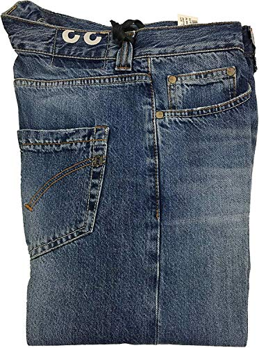 DONDUP Jeans Uomo Denim con Bottoni Modello UP008 Music Fondo cm 19 Made in Italy (38 - IT 52)