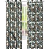 jinguizi Cortina de ventana abstracta pastel onda vertical W42 x...