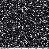 ANRO Wachstuchtischdecke Wachstuch Wachstischdecke Tischdecke abwaschbar Schwarz Bistro Retro Modern 180 x 140cm - 6