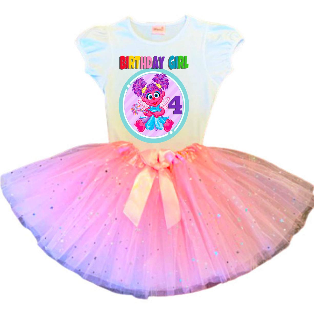 Abby Cadabby Birthday Tutu 4th Ou Ranking TOP10 Party Pink Dress Fixed price for sale