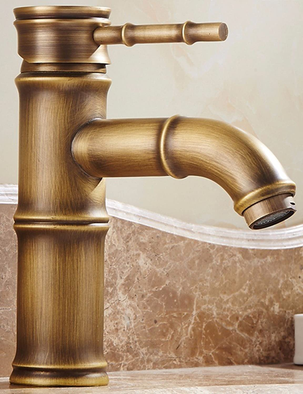 AWXJX European Style Retroot And Cold Single Handle Single Hole Washbasinll Copper Sink Faucet