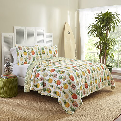 Vue 15971BEDDTWNSSH Kokomo 68-Inch by 86-Inch Reversible 2-Piece Twin Quilt Set, Sunshine