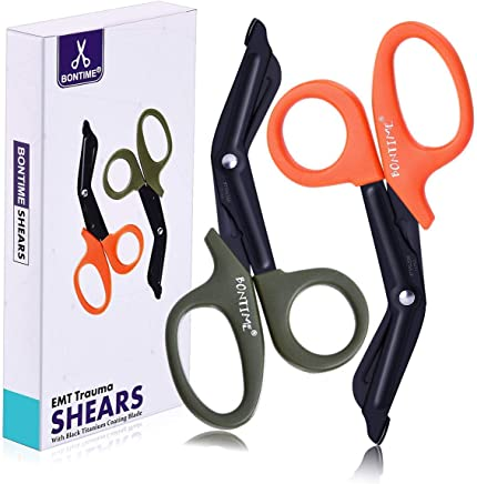 BONTIME Trauma Shears - Premium Quality EMT Shears, Stainless Steel Bandage Scissors for Medical,