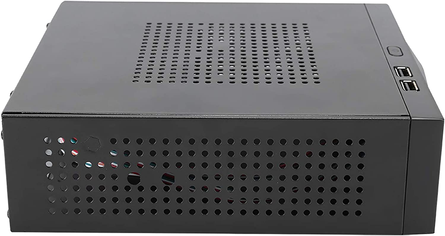 Corrosion-Resistant All in One High Speed Quiet HTPC Computer Case Desktop Computer Case HTPC Case Rust-Proof for Home Theater Computer