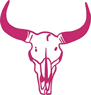 steer skull decal