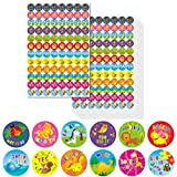 "good job stickers for kids - 2112 PCs Teacher Reward Encouraging Motivational Sticker Mega Pack in 12 Lovely Cartoon Animal Designs (Each Measures 1"" in Diameter)"