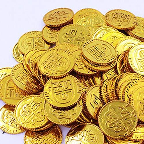 LSSLA Moneda Española Moneda De Plata Prop Monedas Apoyos De Dinero, Monedas Conmemorativas Adecuado para Películas, Comerciales, Dramas, Fiestas, Maquillaje, Magia,Oro