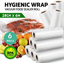 Vacuum Food Sealer Roll Bags Saver Seal Storage Heat 6m x 28cm (6 Pack)