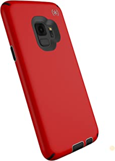 Speck Products Compatible Phone Case for Samsung Galaxy S9, Presidio Sport Case, Heartrate Red/Sidewalk Grey/Black