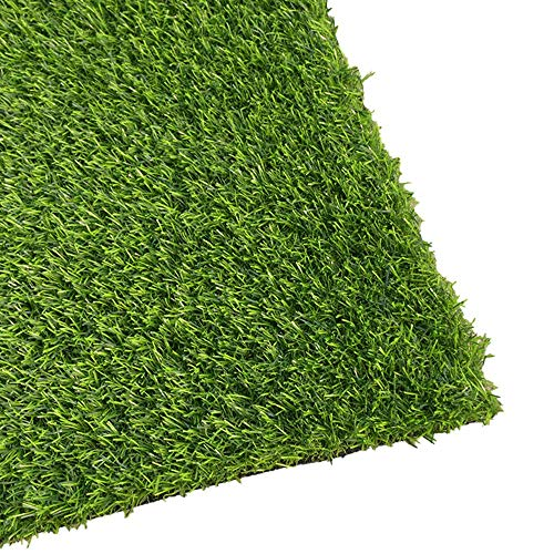 PUCHIKA Kunstrasen für Balkon und Garten, Rasenteppich grün mit 20mm Noppen, Rollrasen mit Meterware für Terrasse Wasserdurchlässig