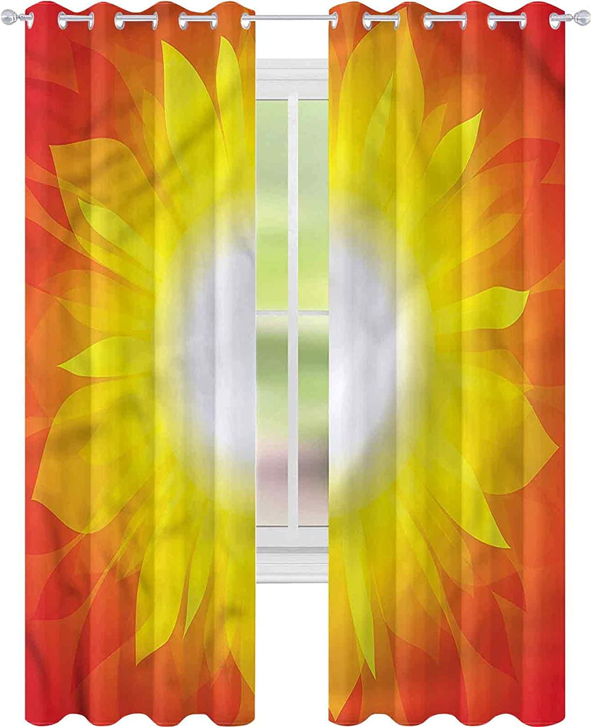 Seattle Mall Blackout Window Curtain Yellow and Yield W42 Season Harvest Ranking TOP10 Red