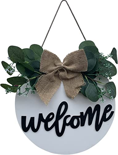 high quality Welcome Sign discount for Front Door Rustic Welcome Sign Wreath Hanging Decoration Ornament for Farmhouse Home Wreath Front Porch outlet online sale Home Decoration Hanging Sign sale