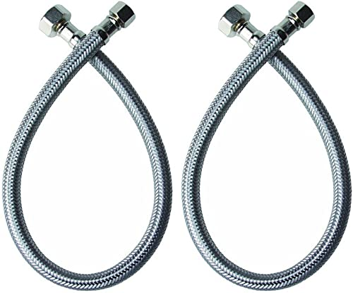 Long Stainless Steel Braid Teflon Hose//blue straights NC AN-4 22 In