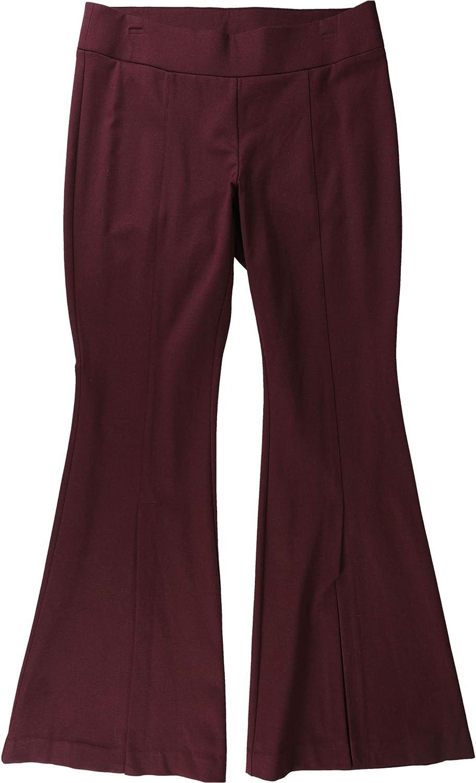 I-N-C Womens Split-Leg Casual Trouser Pants, Red, 12