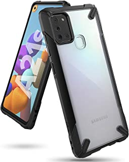 Ringke Cover for Samsung Galaxy A21s Case Hard Fusion-X Ergonomic Transparent Shock Absorption TPU Bumper [ Designed Case ...