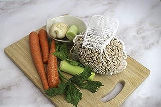 Fackelmann Bolsa Nylon Blanco Apto para lavavajillas, Malla legumbres y Verduras, escaldar y escurrir con Ca. 2kg para cocer garbanzos y resiste 240ºC, 36,5cm Cocina, 36,5 cm