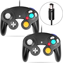 Gamecube Controller, VOYEE Wired Controllers/Gamepad for Nintendo Gamecube & Wii Console (Black/2 Pack)
