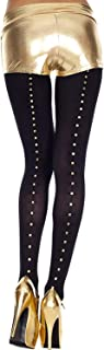 MUSIC LEGS Women's Studs Backseam Spandex Opaque Tights