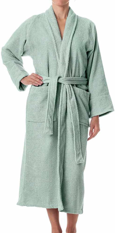 ELuxurySupply Robes for Women and Men  100% Long Staple Cotton Bathrobes  Plush Terry Cotton