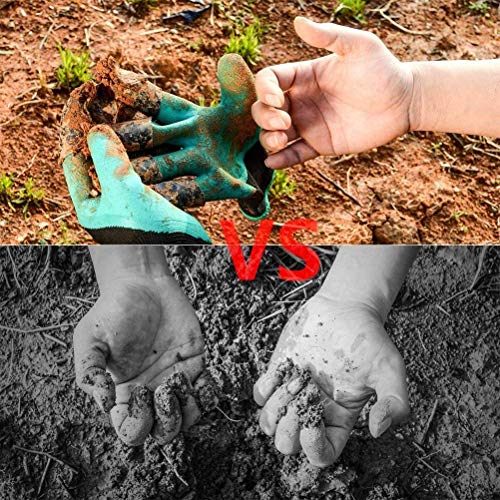 Garden Genie Gloves with Claws, Waterproof and Breathable Garden Gloves for Digging Planting, Best Gardening Gifts for Women and Men (Green Claw 1 Pairs)