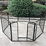 Pet Playpen Dog Exercise Pen Metal Portable Dog Fence 8 Panel for Dogs Pets