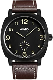 Pointer Display Watch, 4 Colors Men Quality Waterproof Luminous Quartz Movement Wristwatch with Adjustable Leather Watch Band