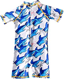Dinlong Infant Baby Clothes Set Boy Girl Short Sleeve Dolphin Print Top T Shirt Shorts Pants Outfit