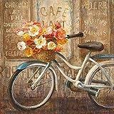 QQWDFQ Rompecabezas, Imagen De Rompecabezas De Madera con Flores De Bicicleta Vintage para Adultos, Decoración De Pared, Decoración Moderna para El Hogar, Sala De Estar, 1000 Piezas