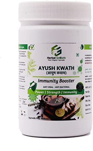 Herbal Growth Immunity Booster Ayurvedic Ayush Kwath Kadha For Anti Viral And Anti Becterial Pack Of 200 Gm