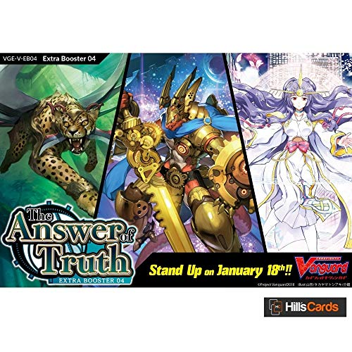 Bushiroad VGE-V-EB04-EN Cardfight Vanguard V-The Answer of Truth Extra Booster Display Box of 12 Packets