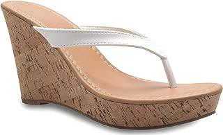 OLIVIA K Women's Sexy Block Heel Sandals - Open Toe Design with Unique Adjustable Buckle