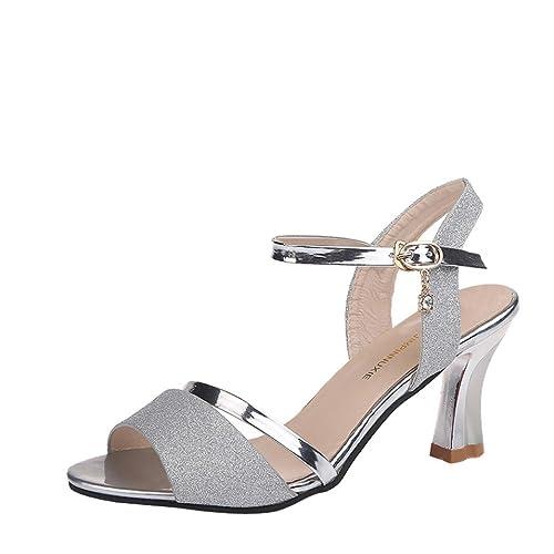 8750e06e492a Lolittas Glitter Sequin Sandal Court Shoes for Women Ladies