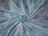 Brokat Stoff blau x Silber Farbe 111,8cm–Hobby,