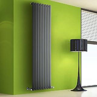Radiador de Diseño Vertical - Antracita - 1780mm x 560mm x 60mm - 1401 Vatios - Rombo