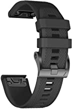ANCOOL Compatible with Fenix 5X Band Easy Fit 26mm Width Soft Silicone Watch Bands Repalcement for Fenix 5X/Fenix 5X Plus/Fenix 3/Fenix 3HR Smartwatches - Black