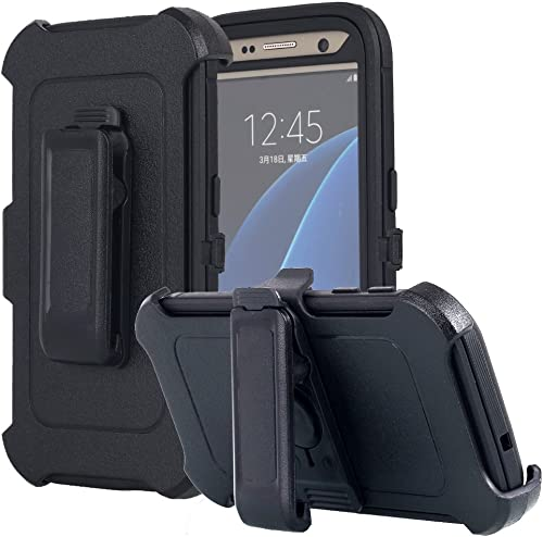 Galaxy S7 Case, AICase [Heavy Duty] [Full Body] Tough 4 in 1 Rugged Shockproof Cover with Belt Clip Armor Protective ...
