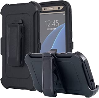 Galaxy S7 Case, AICase [Heavy Duty] [Full Body] Tough 4 in 1 Rugged Shockproof Cover with Belt Clip Armor Protective Cover for Samsung Galaxy S7 (2016) (Black)
