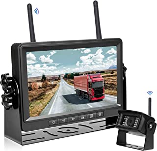 $129 » Hikity FHD 1080P Digital Wireless Car Backup Camera 7 Inch Monitor with Recording DVR 2021 New IP69 Waterproof Night Visio...