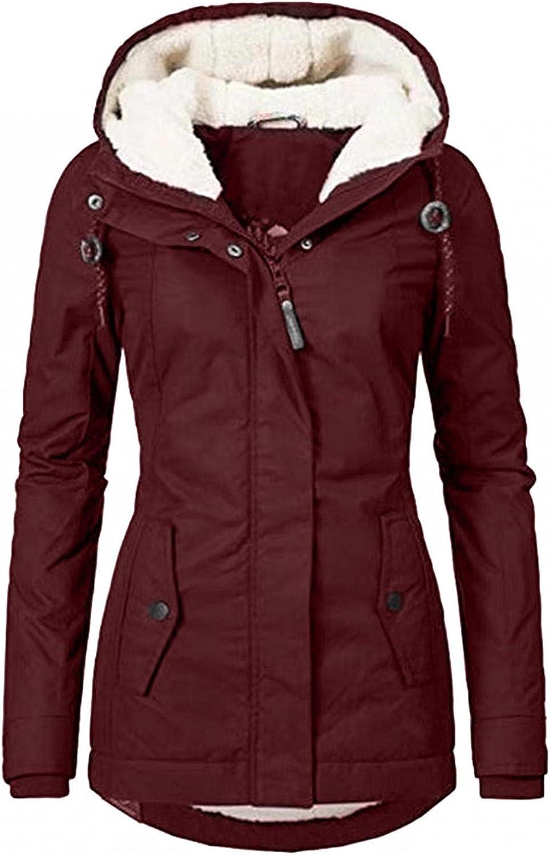 Women's Wool Washington Mall Jacket Coat Hood Plus Parka Size Winter Max 67% OFF Coats Warm