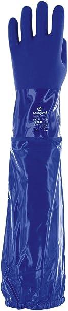 6 Paar pro Beutel Ansell VersaTouch 23-201 PVC Handschuhe Gr/ö/ße 7 Blau Chemikalien- und Fl/üssigkeitsschutz