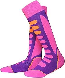 Prettyia Kids Child PINK Soft High Performance Ski Socks Snowboarding Long Boot Socks