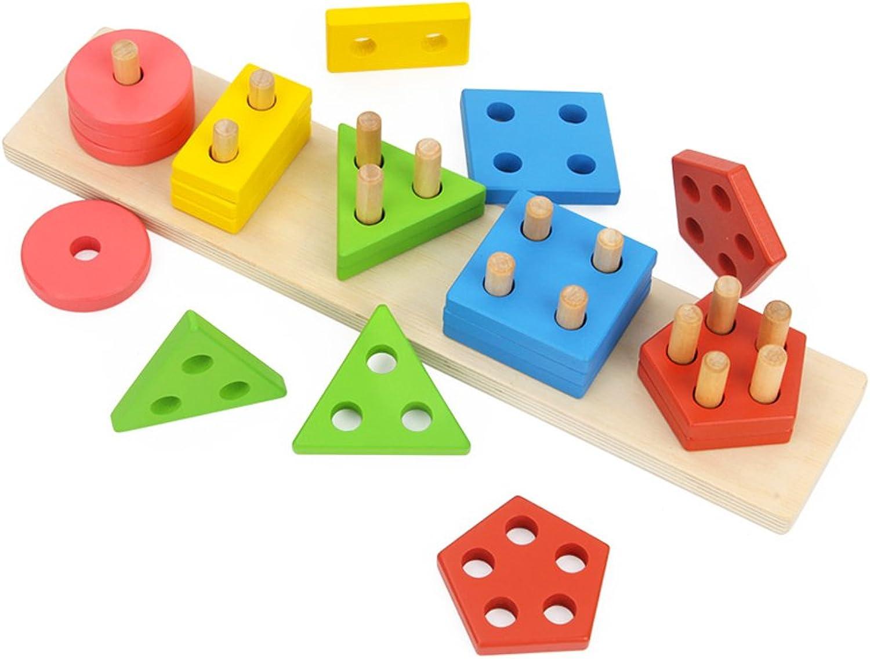 Kinder Form mit Intelligenz Blcke, Früherziehung Lernspielzeug Jungen und Mdchen Geburtstagsgeschenke (Farbe   B)