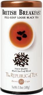 The Republic of Tea British Breakfast Black Full-Leaf Tea, 3.5 Ounces / 50-60 Cups