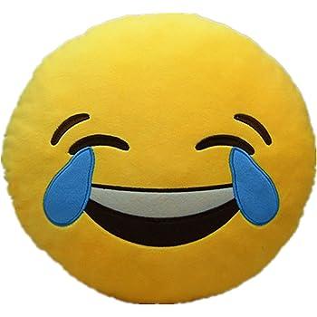 Li Hi Funtoy Coussin Rond En Forme D Emoji De 32 X 32 Cm Jaune Coton Teufel Emoji Rundes Gelb Gesicht Amazon Fr Informatique