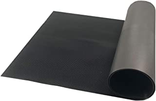 Resilia V-Groove Professional Utility Runner – Black, 27 Inches Wide X 6 Feet Long, Heavy Duty Floor Runner, Made in The USA