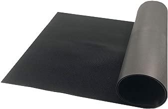Resilia - Black Plastic Floor Runner/Protector - Embossed V Groove Pattern, (27 Inches Wide x 25 Feet Long)