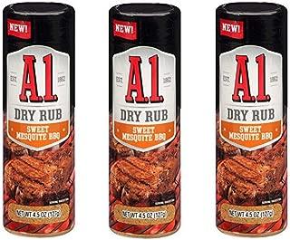A-1 BBQ Dry Rub, 4.5 oz Bottles (Sweet Mesquite, 3 Pack)